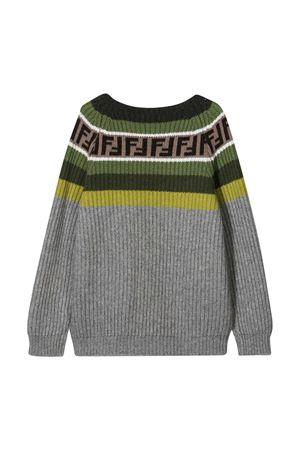 Maglione grigio Fendi Kids FENDI KIDS | 8 | JUG005GM4F0L60