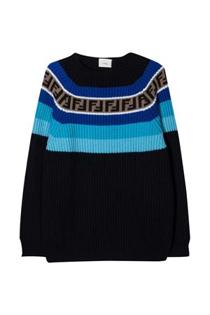 Fendi Kids blue sweater  FENDI KIDS | 8 | JUG005GM4F0UD6