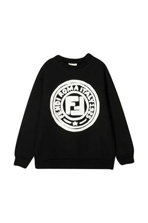 Felpa nera con logo bianco Fendi kids FENDI KIDS | -108764232 | JUH0195V0F0QA1
