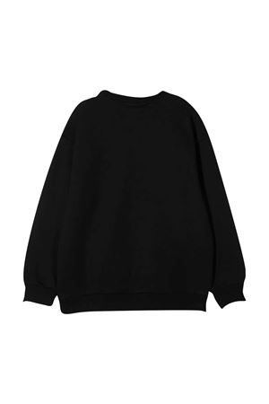 Black sweatshirt with white logo Fendi kids FENDI KIDS | -108764232 | JUH0195V0F0QA1