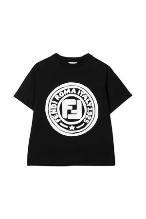 Black t-shirt Fendi kids FENDI KIDS | 8 | JUI0137AJF0QA1