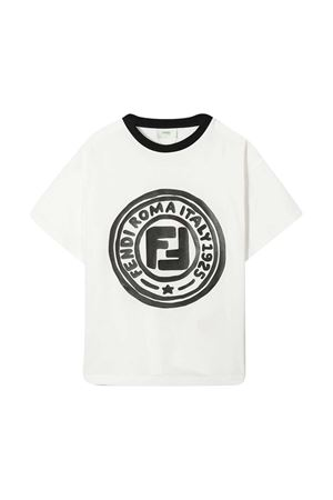 White t-shirt with logo Fendi kids FENDI KIDS | 8 | JUI0137AJF0TU9