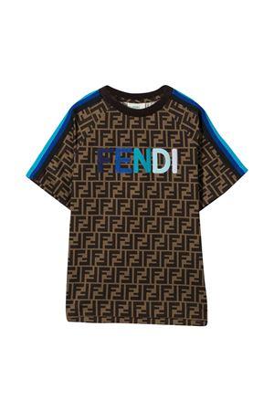 Brown teen t-shirt Fendi Kids  FENDI KIDS | 8 | JUI015ACZSF1BWET