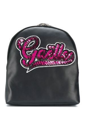 Zaino nero con logo in paillettes fucsia Gaelle Paris kids Gaelle | 5032345 | 2741BP0289NERO