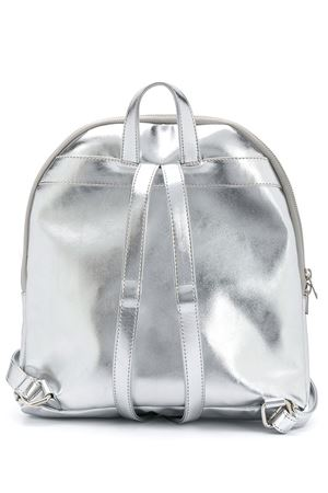 Silver backpack with paillettes logo Gaelle Paris kids Gaelle | 5032345 | 2741BP0289SILVER