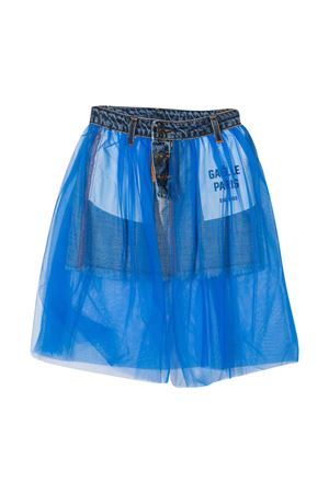 Light blue teen mini skirt Gaelle Paris Kids Gaelle | 15 | 2741GD0212MEDIUMWASHT