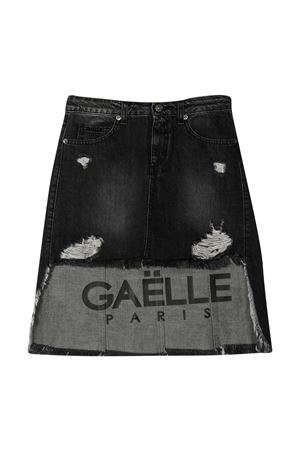 Gaelle Paris Kids black skirt  Gaelle | 15 | 2741GD0231BLACKWASH