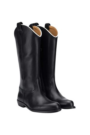 Black teen leather boots Gallucci Gallucci | 76 | J40018AM585B38T