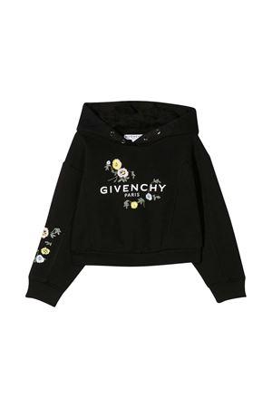 Felpa nera teen Givenchy Kids Givenchy Kids | -108764232 | H1517309BT