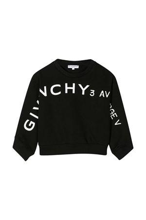 Felpa nera teen Givenchy Kids Givenchy Kids | -108764232 | H1518909BT