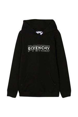 Felpa nera teen Givenchy Kids Givenchy Kids | -108764232 | H2520609BT