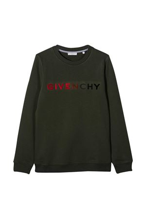 Felpa verde kaki Givenchy kids Givenchy Kids | -108764232 | H25224642