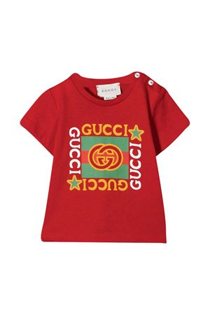 Red newborn t-shirt Gucci kids  GUCCI KIDS | 8 | 548034XJCPU6130
