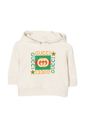 White newborn sweatshirt Gucci kids  GUCCI KIDS | -108764232 | 548305XJCP49061