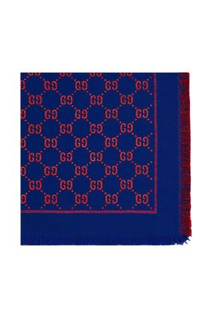 Blue and red scarf GG Gucci kids  GUCCI KIDS   1375490853   5747424K7214200