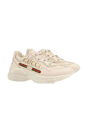 Cream sneakers Gucci kids GUCCI KIDS | 90000020 | 585089DRW009522