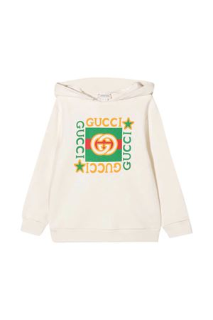 White sweatshirt Gucci kids  GUCCI KIDS | -108764232 | 611220XJCP49061