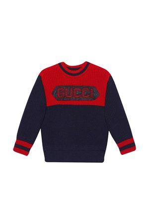 Maglia blu Gucci kids GUCCI KIDS | 7 | 615672XKBEE4210