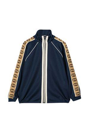 Blue bomber jacket Gucci Kids GUCCI KIDS | -108764232 | 616273XJCOU4843