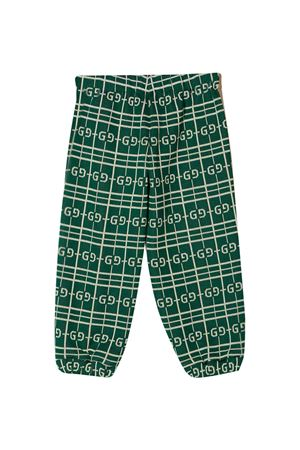Green sports trousers Gucci Kids  GUCCI KIDS | 9 | 626307XJCPK3872