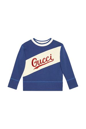 Blue sweatshirt Gucci kids  GUCCI KIDS | -108764232 | 626947XJCOA4305