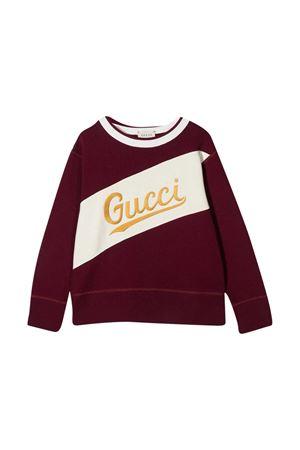 Felpa rossa Gucci kids GUCCI KIDS | -108764232 | 626947XJCOA6494