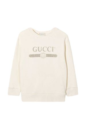 White Gucci Kids sweatshirt  GUCCI KIDS | -108764232 | 627964XJCP59061