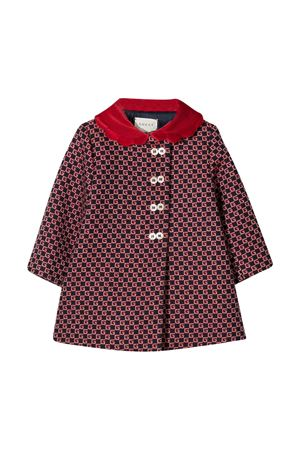 Red coat with GG pattern Gucci kids GUCCI KIDS | 17 | 629477XWALI4668