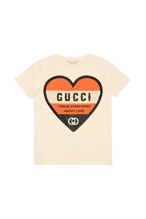 Cream t-shirt Gucci kids  GUCCI KIDS | 8 | 630805XJCTC9756