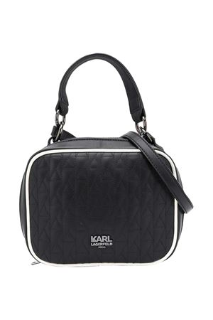 Black/white faux leather quilted tote from KARL LAGERFELD KIDS  Karl lagerfeld kids | 31 | Z1008409B