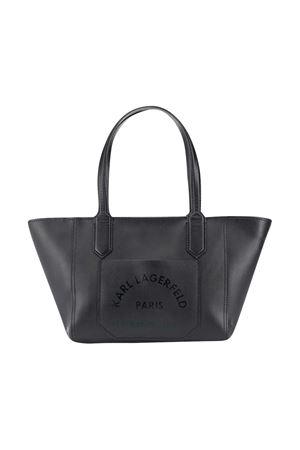 Black tote bag Karl Lagerfeld Kids Karl lagerfeld kids | 187288065 | Z1008509B