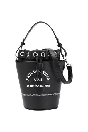 Black leather logo-print bucket bag KARL LAGERFELD KIDS Karl lagerfeld kids | 31 | Z1008709B