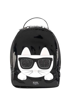 Black backpack with white applications Karl Lagerfeld kids Karl lagerfeld kids | 5032345 | Z1009409B