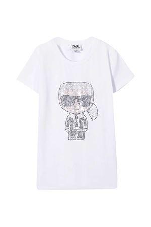 White Karl T-shirt by Lagerfeld Kids Karl lagerfeld kids | 8 | Z1525310B