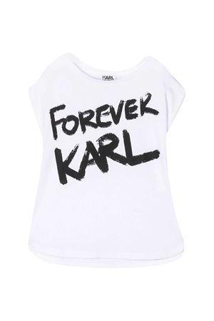 T-shirt bianca con stampa nera Karl Lagerfeld kids Karl lagerfeld kids | 8 | Z1526710B