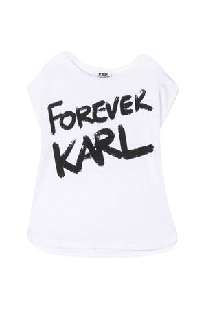 T-shirt teen bianca con stampa nera Karl Lagerfeld kids Karl lagerfeld kids | 8 | Z1526710BT
