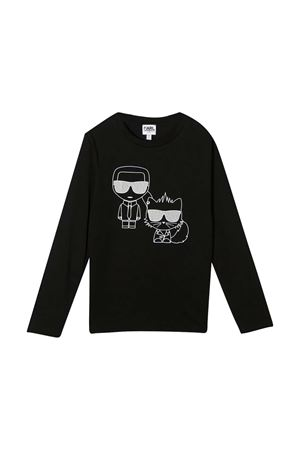 Black t-shirt teen Karl Lagerfeld Kids  Karl lagerfeld kids | 8 | Z2524909BT