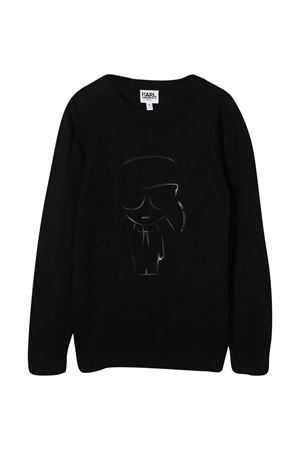 Black teen sweatshirt Karl Lagerfeld Kids  Karl lagerfeld kids | 7 | Z2525909BT