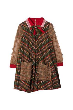 Green dress Mi.Mi.Sol kids  MI.MI.SOL | 11 | MFAB134TS0351GRN