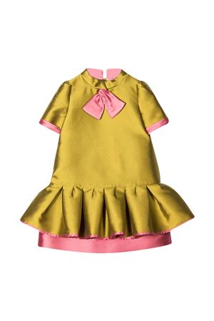 Green dress Mi.Mi.Sol kids  MI.MI.SOL | 11 | MFAB175TS0367GRN