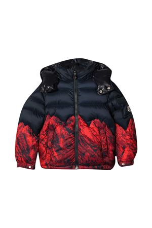 Blue and red down jacket Moncler Kids Moncler Kids | -276790253 | 1A54620C0615450