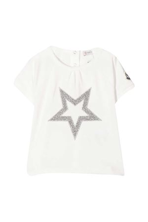 White t-shirt with frontal star embroidery Moncler kids Moncler Kids | 8 | 8C716108790M034