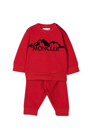 Red tracksuit with frontal logo embroidery Moncler kids Moncler Kids | 42 | 8M7222080996455