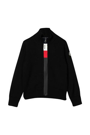 Black cardigan with frontal zip closure Moncler kids Moncler Kids | 39 | 9B70120A9384999