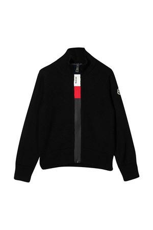 Cardigan nero teen con chiusura frontale zip Moncler kids Moncler Kids | 39 | 9B70120A9384999T