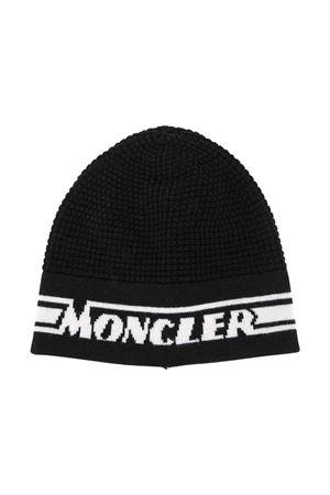 Black jacquard hat Moncler Kids  Moncler Kids | 5032340 | 9Z70420A9366999