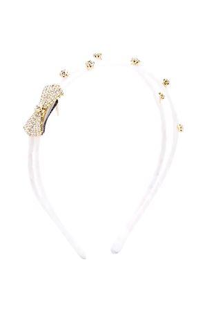 White headband with bow deatail Monnalisa kids Monnalisa kids | -611852221 | 17600160870001