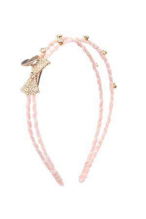Pink headband with decorations and bow detail Monnalisa kids Monnalisa kids | -611852221 | 17600160870066