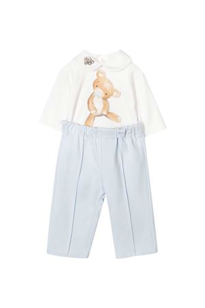 White shirt and light blue trousers set Monnalisa kids Monnalisa kids | 42 | 22650060200158