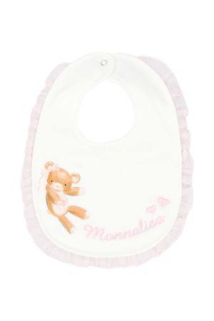 Pink and white bib with press Monnalisa kids Monnalisa kids   1901739980   3560006020192C